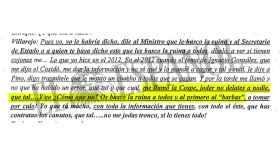 Villarejo amenaza a Cospedal con tirar de la manta y buscarles la ruina a todos.