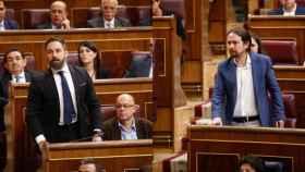 Abascal e Iglesias, en el Congreso./