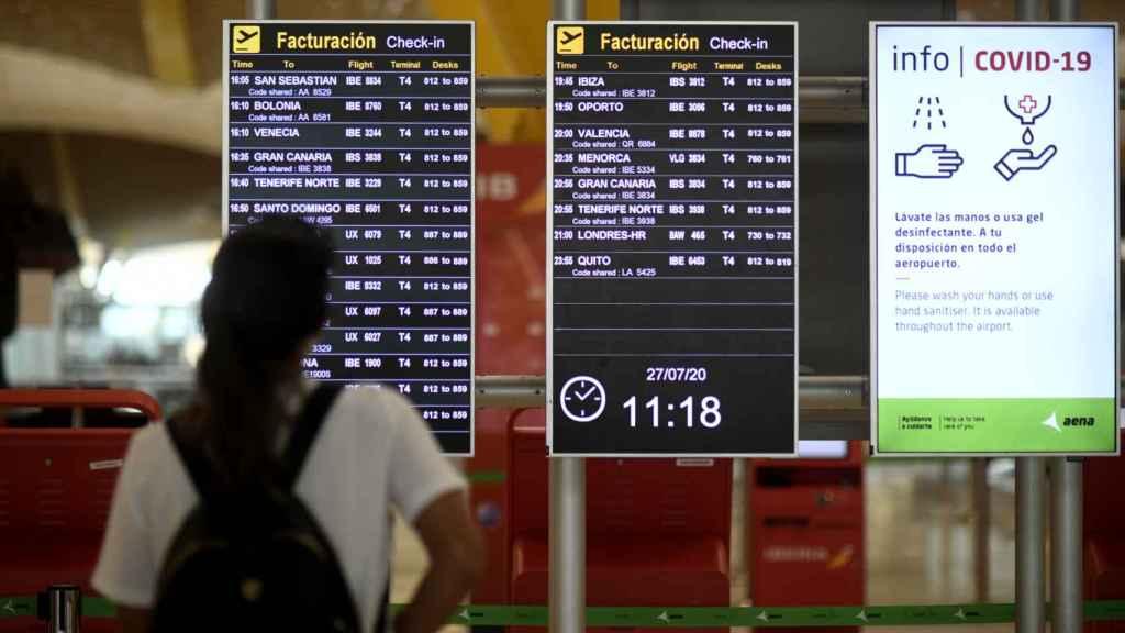 La terminal T1 del Aeropuerto de Madrid-Barajas Adolfo Suárez.