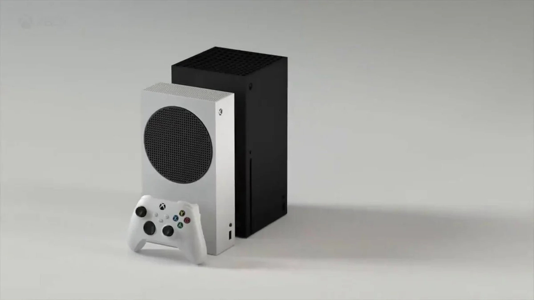 La Xbox Series S, al lado de la Xbox Series X