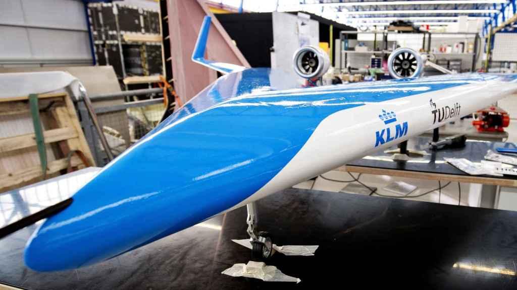 Prototipo del Flying-V, avión con forma de V
