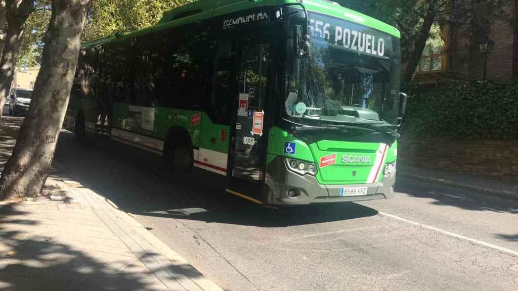 Autobús de la línea 656 que conecta Madrid y Pozuelo