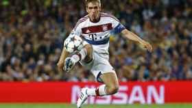 Lahm durante un partido con el Bayern