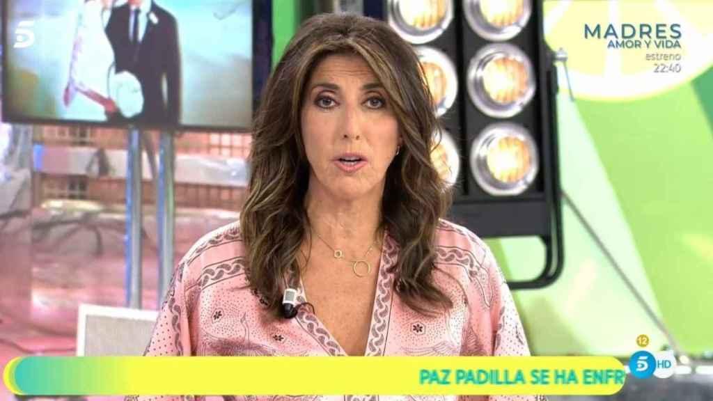 Paz Padilla durante su regreso a 'Sálvame'.