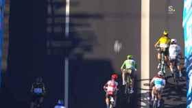 El peligroso empujón de Sagan a Van Aert