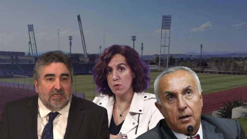 José Manuel Rodríguez Uribes, Ministro de Cultura y Deportes; Irene Lozano, presidenta del CSD y Alejandro Blanco, presidente del COE