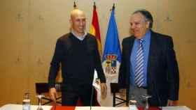 Luis Rubiales y Óscar Fle