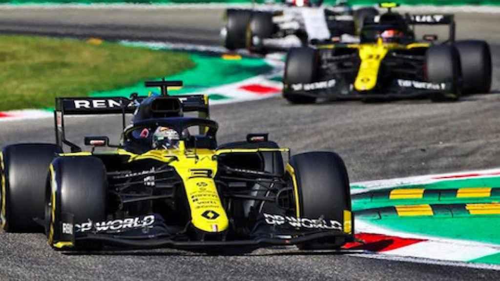 Los Renault en el GP de Italia