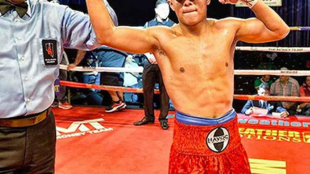 Danny González tras ganar un combate