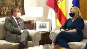Page y Picazo durante el encuentro. Foto: Óscar Huertas