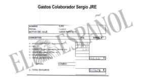 Uno de los pagos realizados al chófer con fondos reservados.