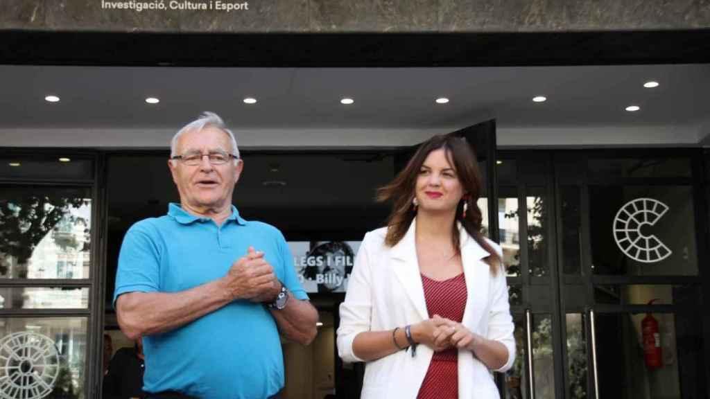 Joan Ribó, alcalde de Valencia, y Sandra Gómez, vicealcaldesa. EE
