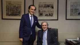José Coronel de Palma y Manuel García Fernández, presidente y secretario general de la AELR.