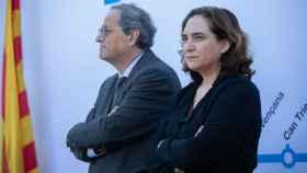 El presidente de la Generalitat,  Quim Torra, y la alcaldesa de Barcelona, Ada Colau, en una imagen de archivo.