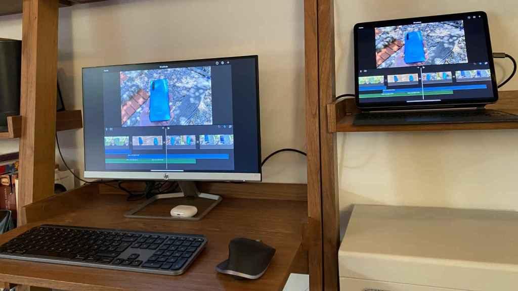 iPad Pro conectado a un monitor