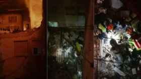 Secuencia del suceso filmado por los propios vecinos del bloque afectado