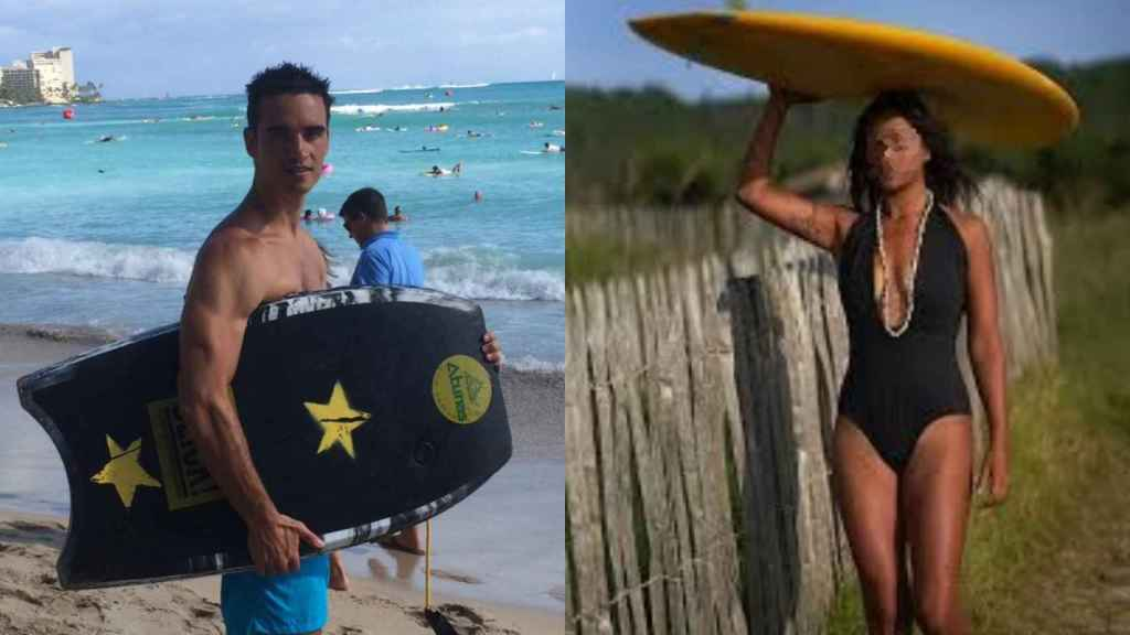 A la izquierda, Javier, que grabó la escena. A la derecha, A.L.,  la socorrista detenida.