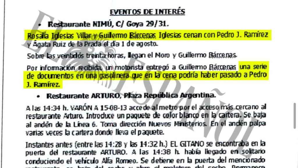 Documentación que acredita los seguimientos a Pedro J. Ramírez.