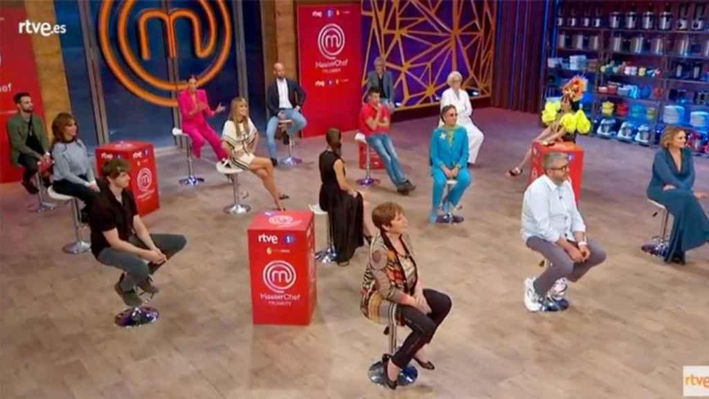 Concursantes durante la rueda de prensa de 'MasterChef Celebrity 5'.