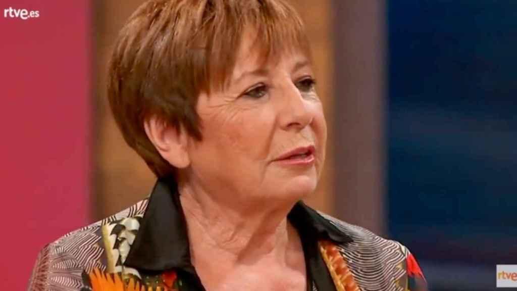 Celia Villalobos durante la rueda de prensa de 'MasterChef Celebrity'.