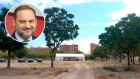 Solar estatal del barrio de la infancia de Ábalos en el que el Gobierno va a construir 400 viviendas públicas. EE