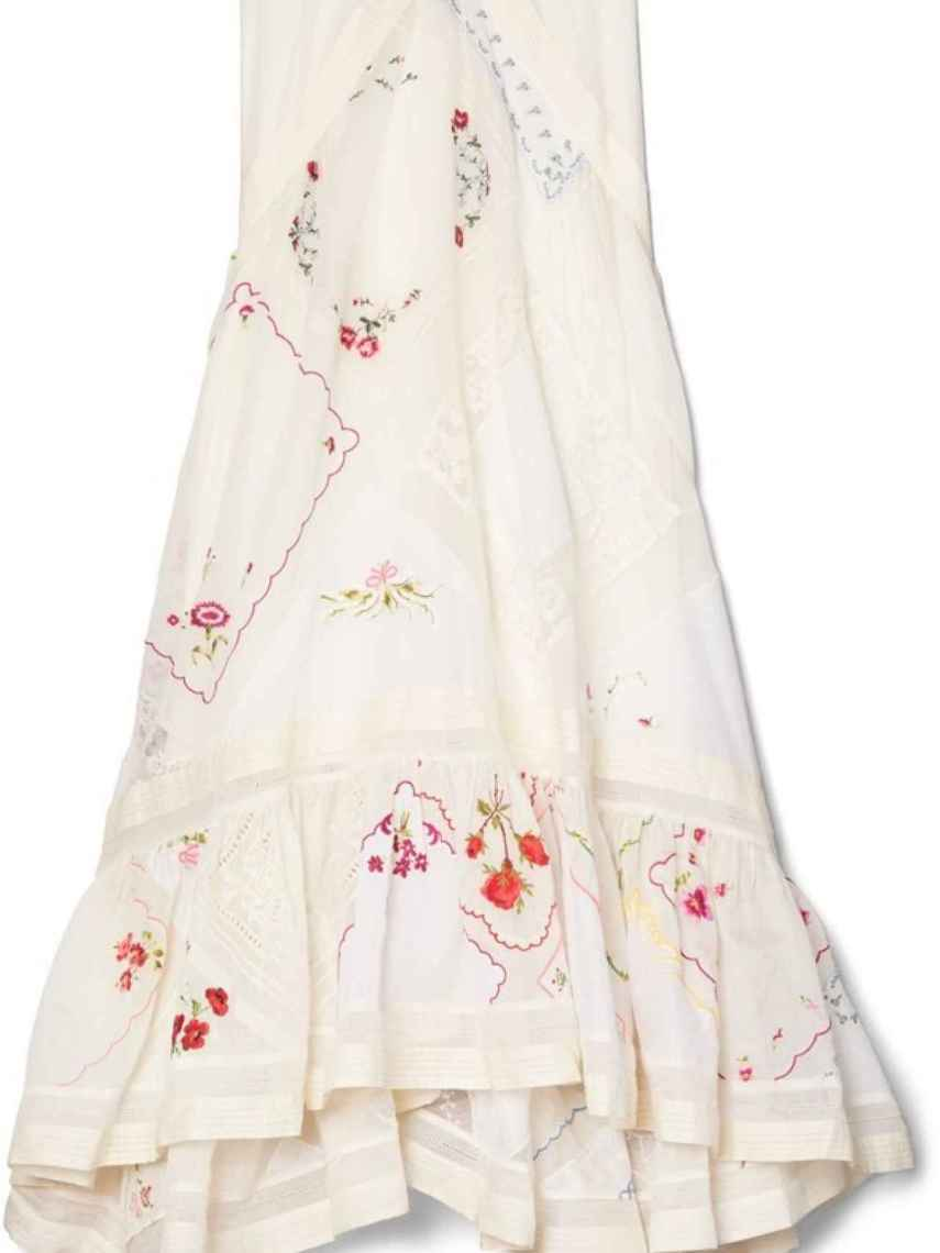 Detalles del vestido Tory Burch.