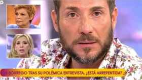 Antonio David Flores en montaje de JALEOS con Carmen Borrego y Terelu Campos.