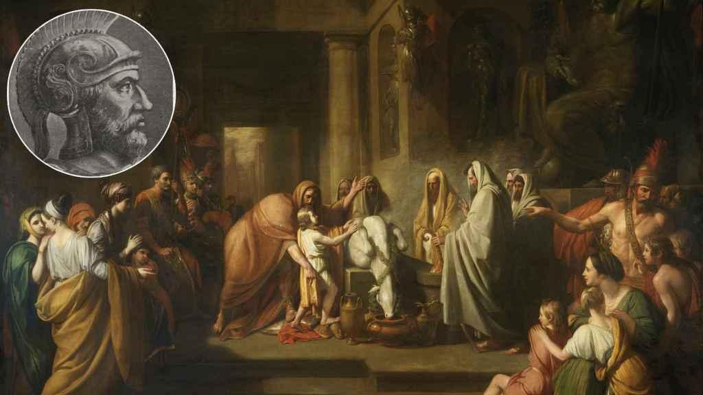 Amílcar Barca, en el juramento de su hijo Aníbal.