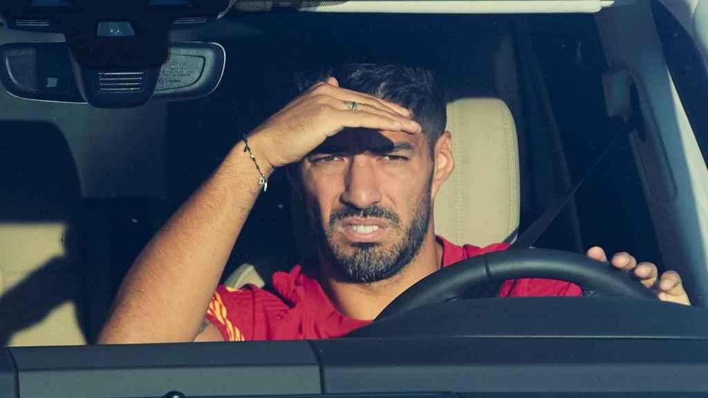 Luis Suárez en su coche