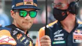 El piloto español Jorge Martín, en la parrilla de Moto2 del Gran Premio de Estiria.