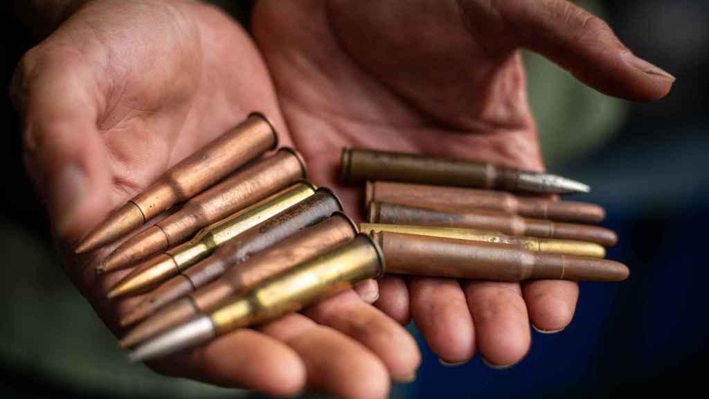 Una decena de balas, halladas por 'Buscahierros'.