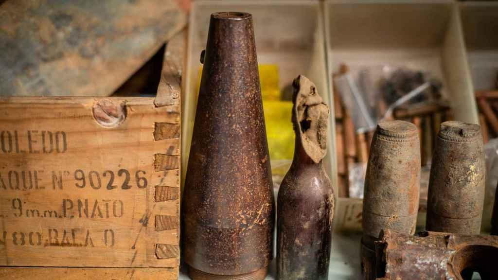 Algunas de las piezas de hierro del coleccionista McGyver.