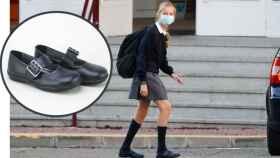 Leonor, luciendo unos Eli Shoes en la vuelta al colegio, en un montaje de Jaleos.