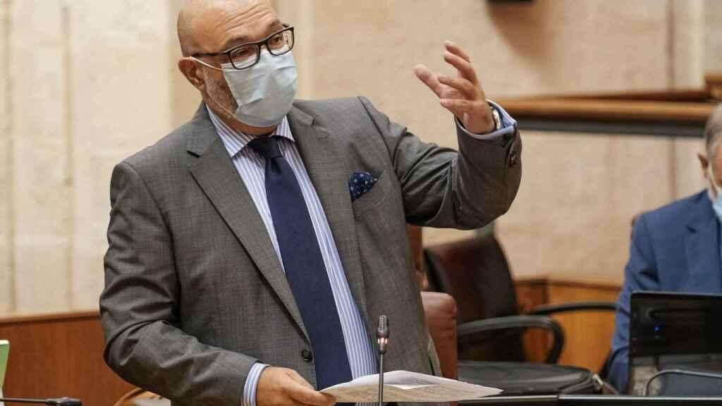 El portavoz del Vox en el Parlamento andaluz, Alejandro Hernández.