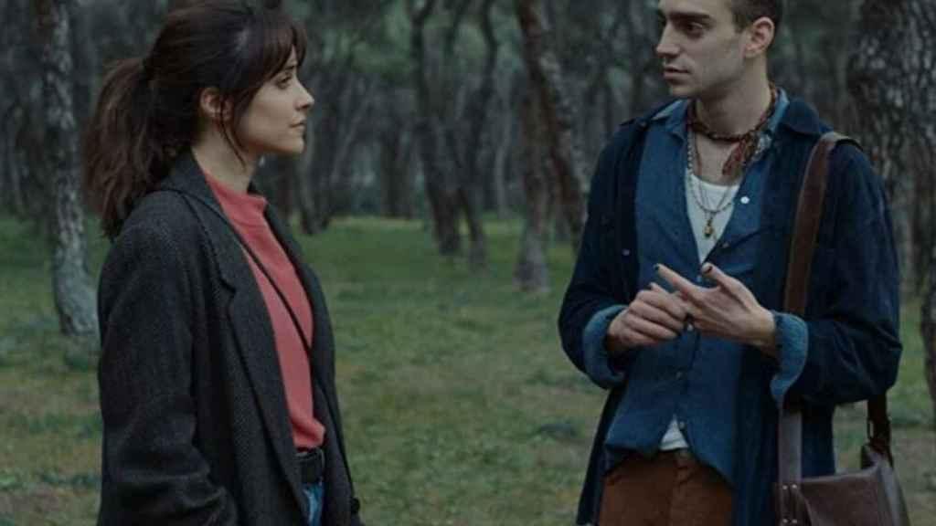 Macarena García junto a Nacho Sánchez en la película.