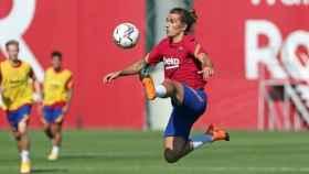 Antoine Griezmann, durante un entrenamiento del Barcelona