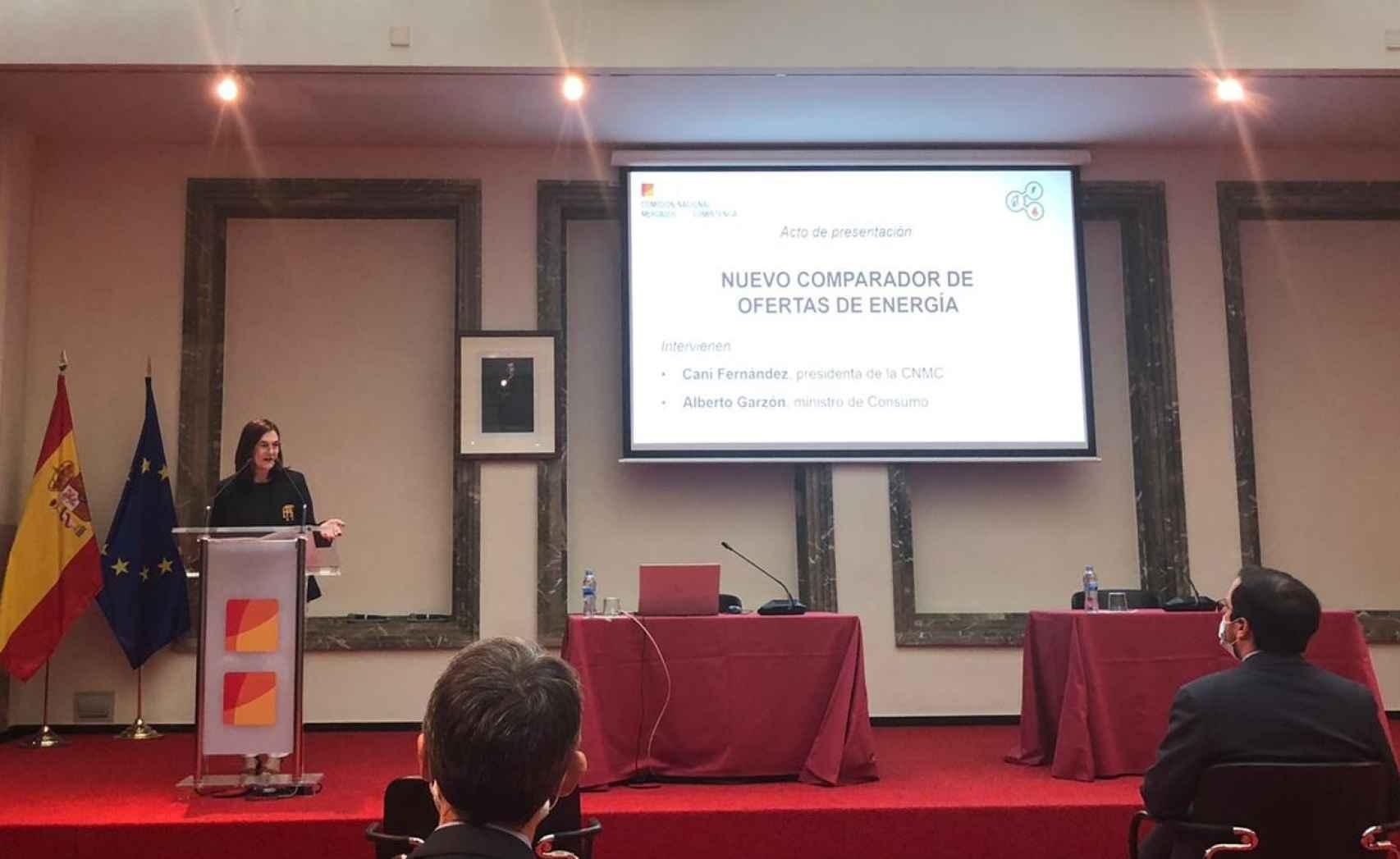 presentación del comparador de energía de la CNMC