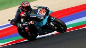 Fabio Quartararo en el circuito de Misano durante el Gran Premio de San Marino