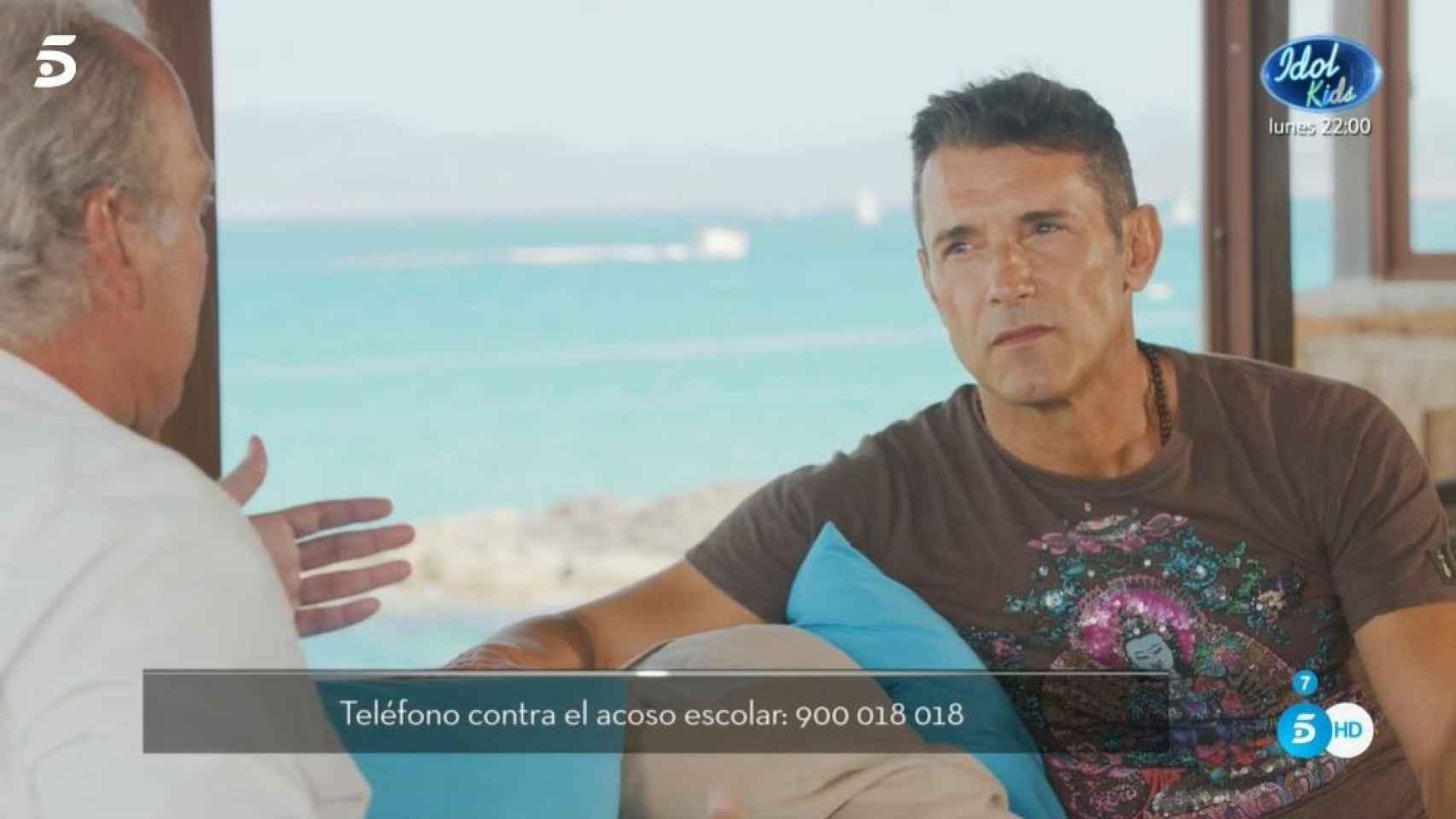 Jesús Vázquez durante su confesión con Bertín Osborne en 'Mi casa es la tuya'.