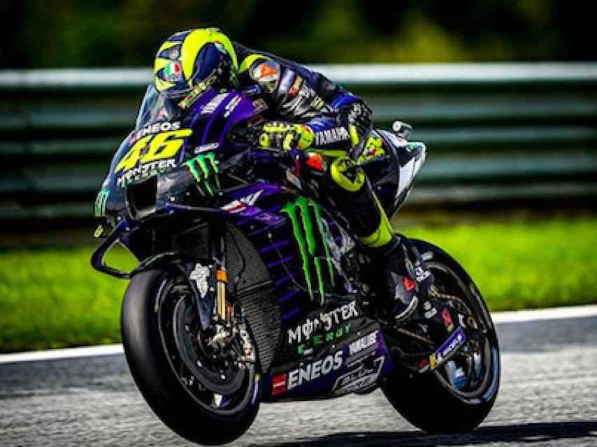 Valentino Rossi en el circuito de Austria