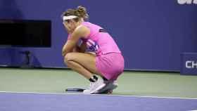 Azarenka, tras ganar a Serena Williams en el US Open.