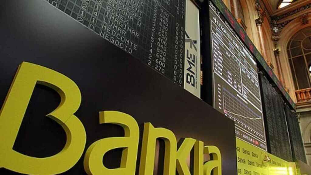 Imagen de la salida a bolsa de Bankia.