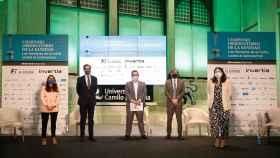 Raquel Murillo, Federico  de Montalbo, Eduardo Ortega, Carlos Represas y Ofelia de Lorenzo.