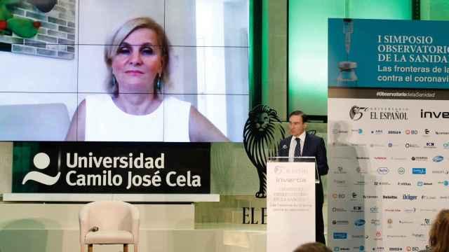 El presidente ejecutivo y director de EL ESPAÑOL, Pedro J. Ramírez, clausura el evento tras la intervención de María Neira, directora de Salud Pública de la OMS