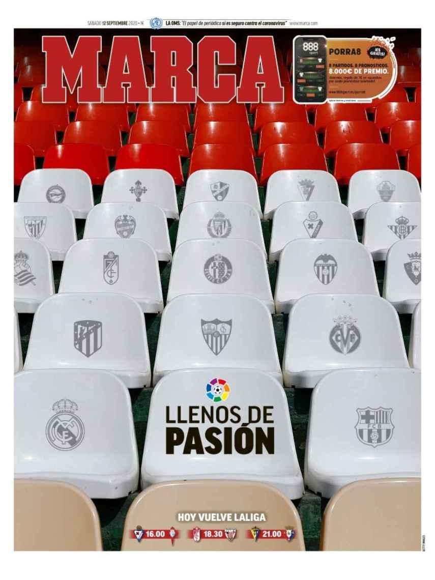 La portada del diario MARCA (12/09/2020)
