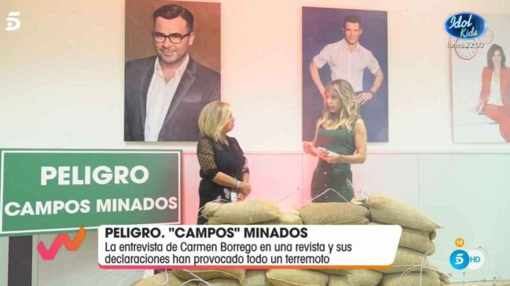 Carmen Borrego y Emma García al comienzo del programa.