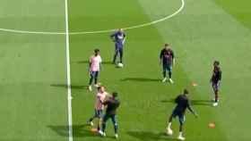 Ceballos y Eddie Nketiah, a empujones: tensión en el entrenamiento del Arsenal