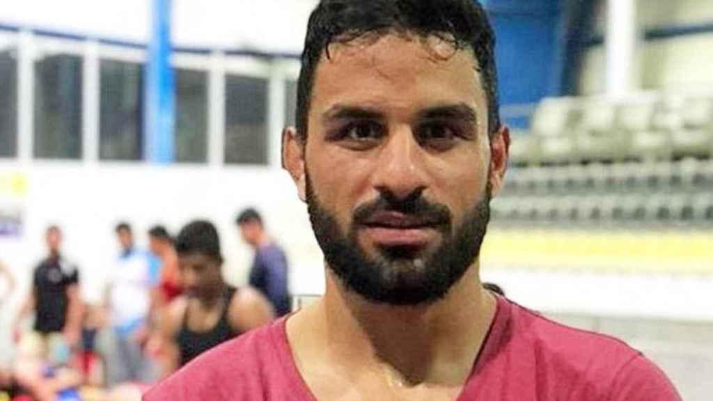 El campeón de lucha libre Navid Afkarí