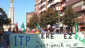 Trabajadores de ITP Aero se manifiestan en Bilbao para rechazar el ERE