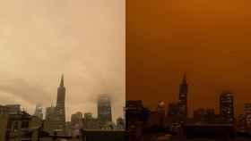 Comparación entre la cámara por defecto del iPhone (izq) y sin la corrección de color (der)